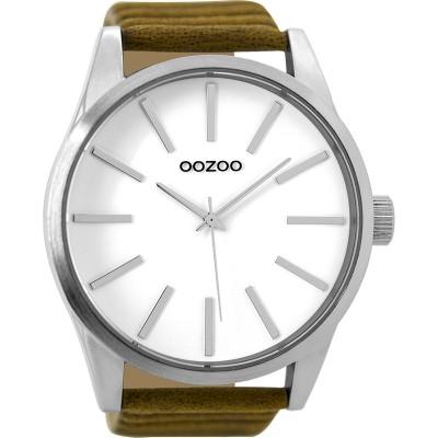 OOZOO Timepieces horloge Bruin/Wit 50mm
