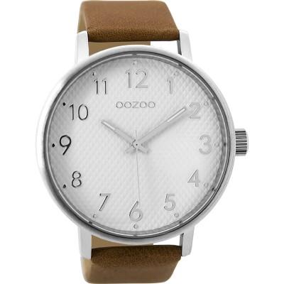 OOZOO Timepieces horloge Bruin/Wit 48mm