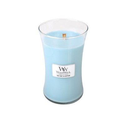 Woodwick Sea Salt and Cotton Large Candle