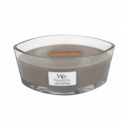 Woodwick Sand and Driftwood Candle Ellips