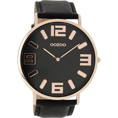 OOZOO Vintage horloge Zwart 40mm