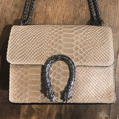 Inspired Bag snake beige