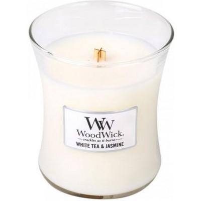 Woodwick White Tea & Jasmine Candle Medium