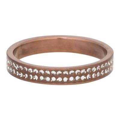 iXXXi Ring Double Zirkonia Matt brown R3704-9