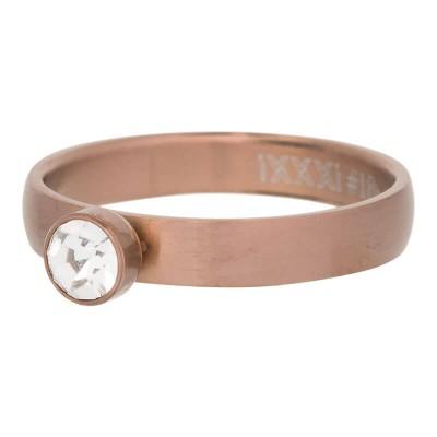 iXXXi Crystal Zirkonia Ring Mat Bruin 4mm