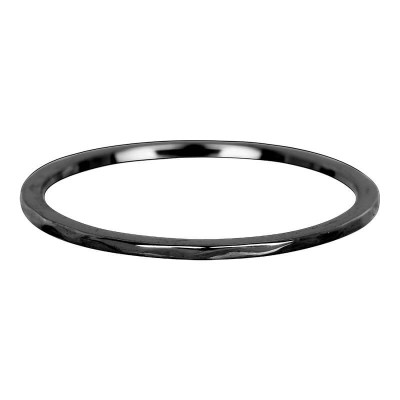 iXXXi Wave ring 1mm zwart