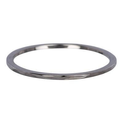 iXXXi Wave ring 1mm Antiek Zilver