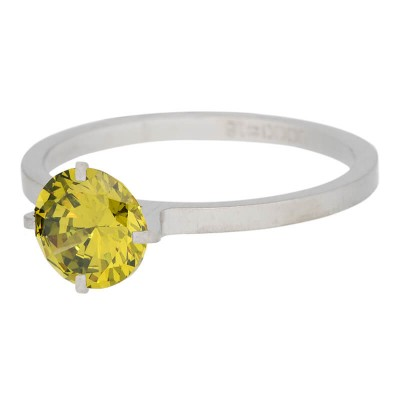 iXXXi Ring Secure Crystal Olivina zilver R4801-4
