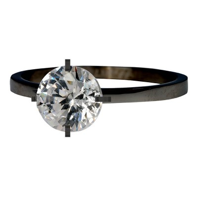 iXXXi Ring Secure Crystal Zwart R4801-5