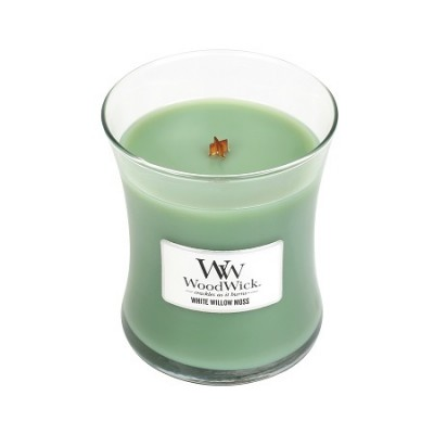 Woodwick White Willow Moss Candle Medium