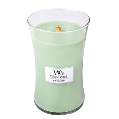 Woodwick White Willow Moss Large Candle