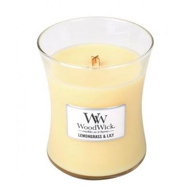Woodwick Lemongrass & Lily  Candle Medium