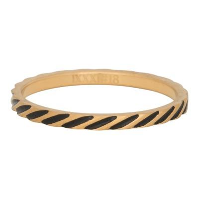 iXXXi Ring Slanting Stripes Goud R2812-16