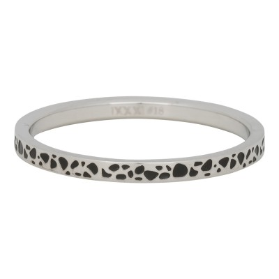 iXXXi Ring Slanting Stripes Zilver R2813-18