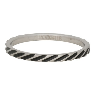 iXXXi Ring Slanting Stripes Zilver R2812-18