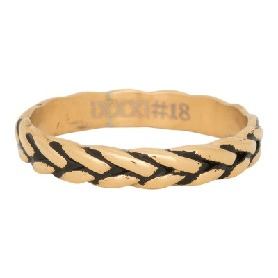 iXXXi Love Wheat Ring Goud 4mm