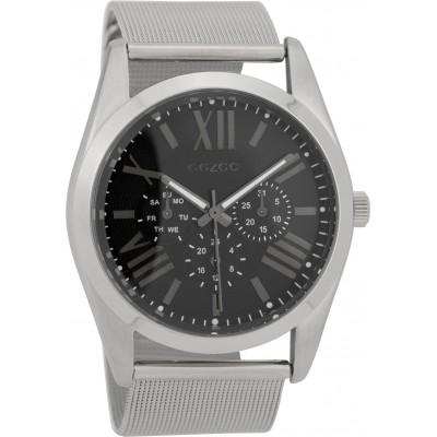 OOZOO Timepieces horloge Zilver/Zwart 44mm C9643