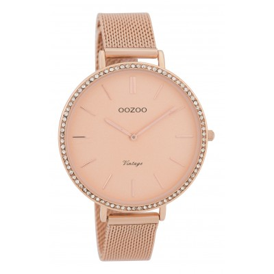 OOZOO Vintage horloge Rose Strass 40mm C9398