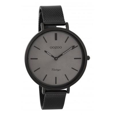 OOZOO Vintage horloge Zwart/Grijs 40mm C9394