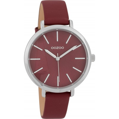 OOZOO Timepieces horloge Bordeaux 38mm C9698