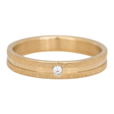 iXXXi Sandblasted 4mm cristal stone goud