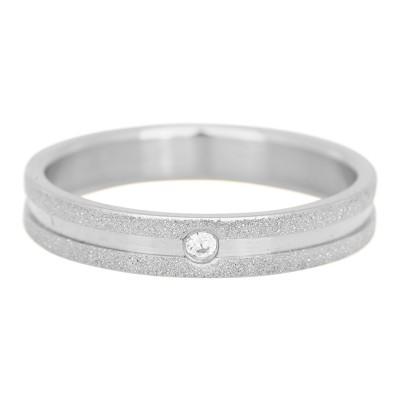 iXXXi Sandblasted 4mm cristal stone zilver