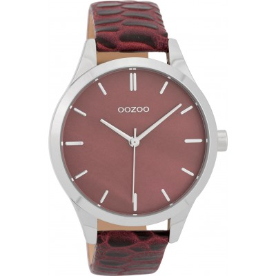 OOZOO Timepieces horloge Bordeaux Croco 42mm C9722