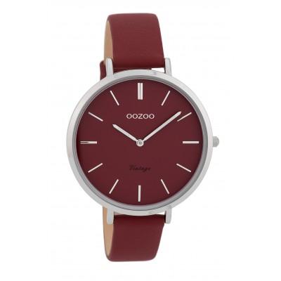 OOZOO Vintage horloge Bordeaux 40mm C9807
