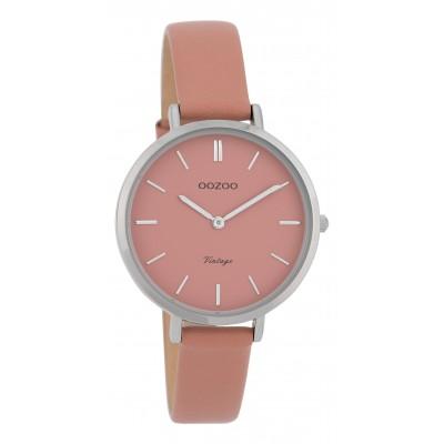 OOZOO Vintage horloge Roze 34mm C9812