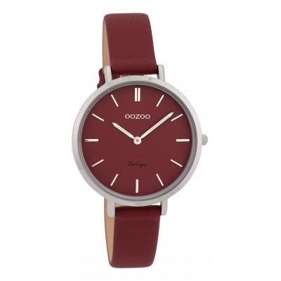 OOZOO Vintage horloge Bordeaux 34mm C9815