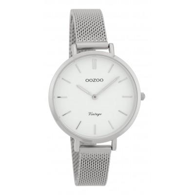 OOZOO Vintage horloge Zilver 34mm C9820