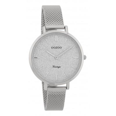 OOZOO Vintage horloge Zilver 34mm C9825