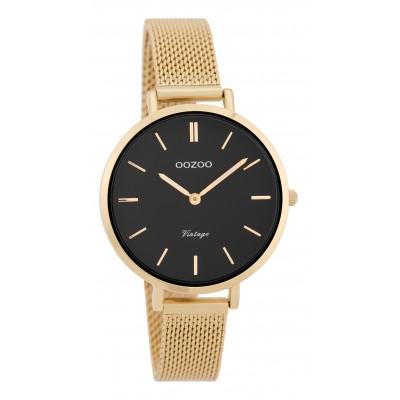 OOZOO Vintage horloge Goud/Zwart 34mm C9829