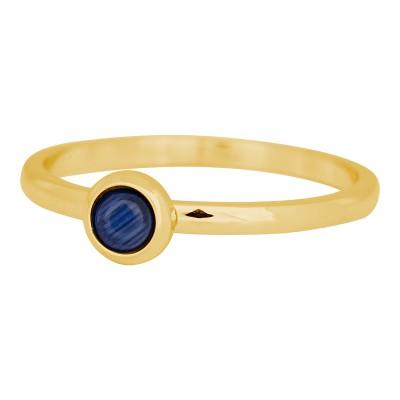 iXXXi ring natuursteen navy blue 2mm goud