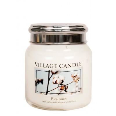 Village Candle Medium Jar Pure Linen