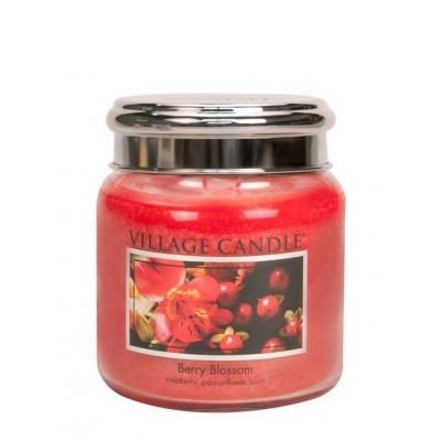 Village Candle Medium Jar Berry Blossom