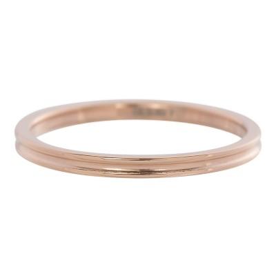 iXXXi Smal Ring Ribbel 2mm Rose