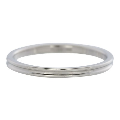 iXXXi Smal Ring Ribbel 2mm zilver
