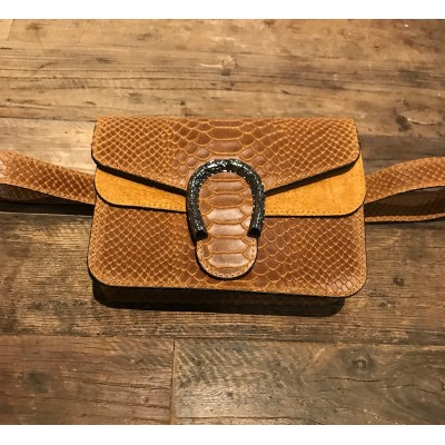 Inspired Belt Bag snake brown