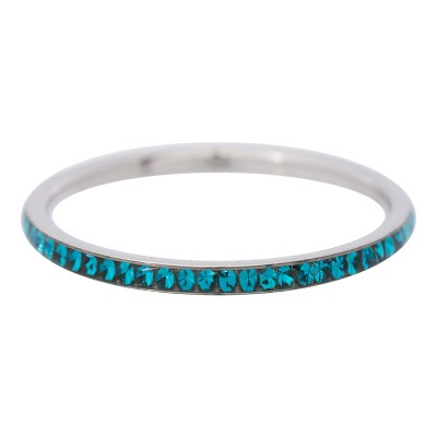 iXXXi Smal Zirkonia Turquoise 2mm Zilver