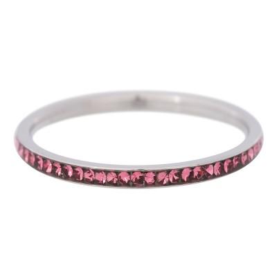 iXXXi Smal Zirkonia Pink 2mm Zilver