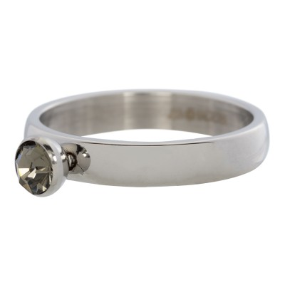 iXXXi Crystal Zirkonia Ring Zilver 4mm