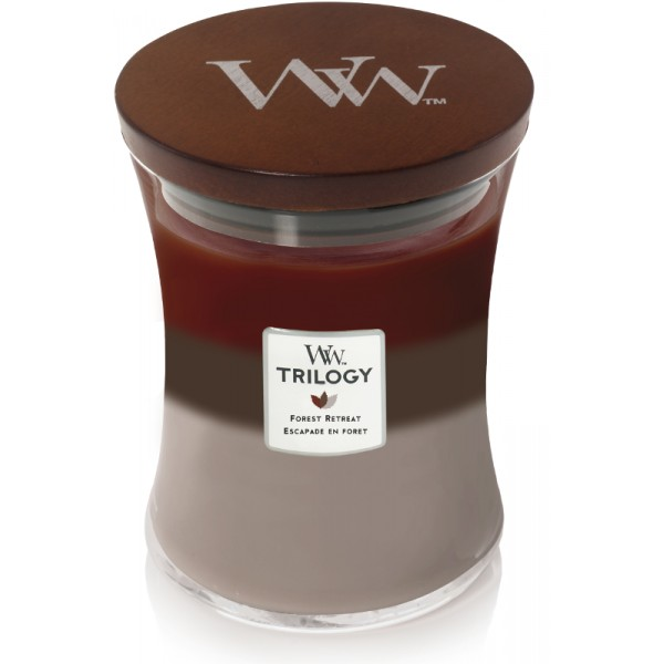Woodwick Forest Retreat Trilogy Medium Candle