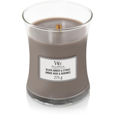 Woodwick Black Amber & Citrus Candle Medium