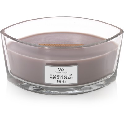 Woodwick  Black Amber & Citrus Candle Ellips