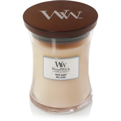Woodwick White Honey Candle Medium