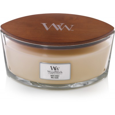 Woodwick White Honey Candle Ellips
