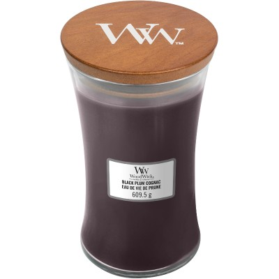 Woodwick Black Plum Cognac Large Candle