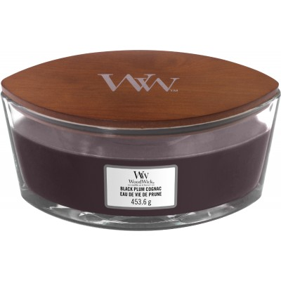 Woodwick Black Plum Cognac Candle Ellips