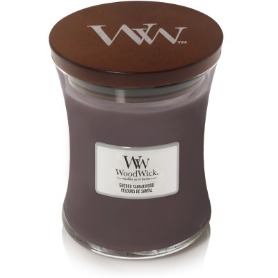 Woodwick Sueded Sandalwood Candle Medium
